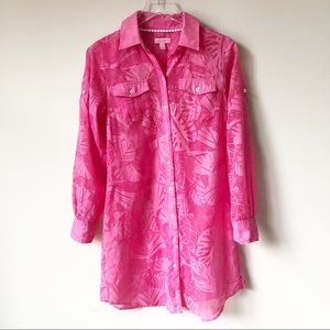 Lilly Pulitzer Bright Pink Resort Fit Coverup